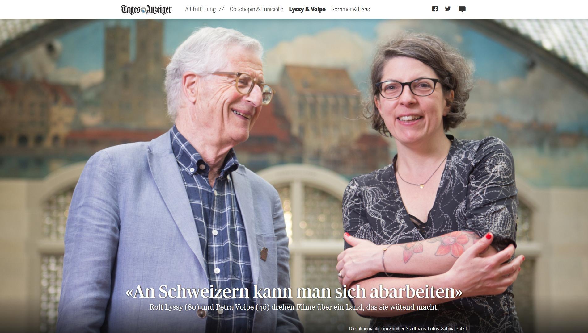 Rolf Lyssy und Petra Volpe